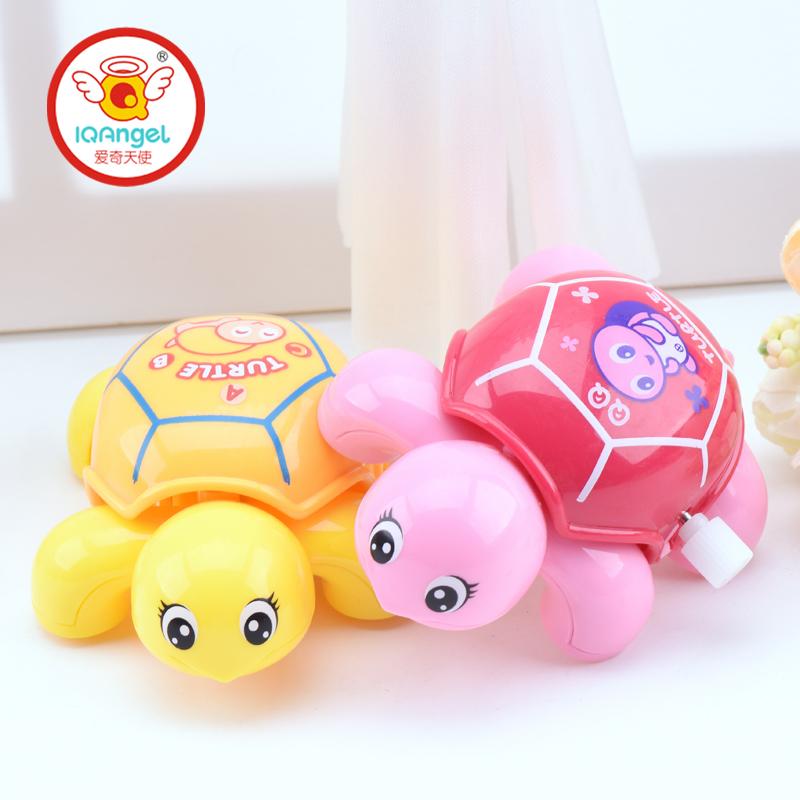爱奇天使儿童发条上链玩具 3岁宝宝上弦链条小玩具炫彩QQ乌龟