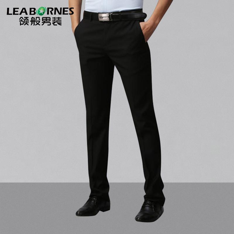 Воротник так мужской брюки бизнес слим типа костюм брюки весна сезон случайный прямо костюм брюки не требует глажения официальная одежда брюки
