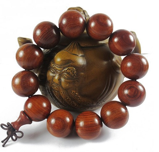 Kaiguang small leaf red sandalwood beads bracelet for men