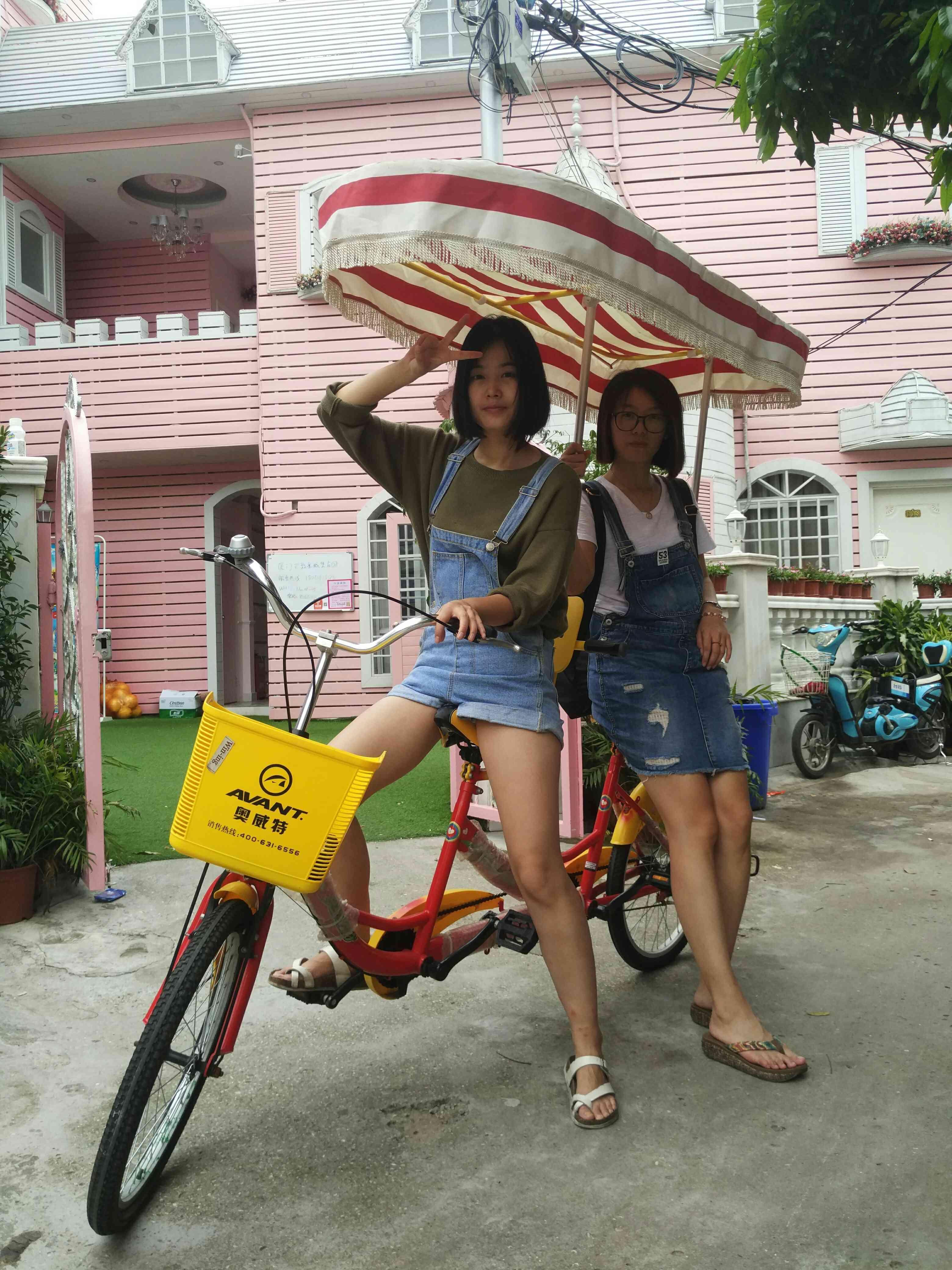 Особняк ворота кольцо остров дорога Tzengtsu двойной отцовство велосипед в целом наслаждаться аренда пакет 20 юань