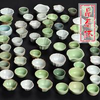 Жучжоуский фарфор статья чайный куст чашка гэяао чашка керамика усилие чайный сервиз головные уборы чаинка чашка ты фарфор открыто таблетки могут поддержка личный один кубок