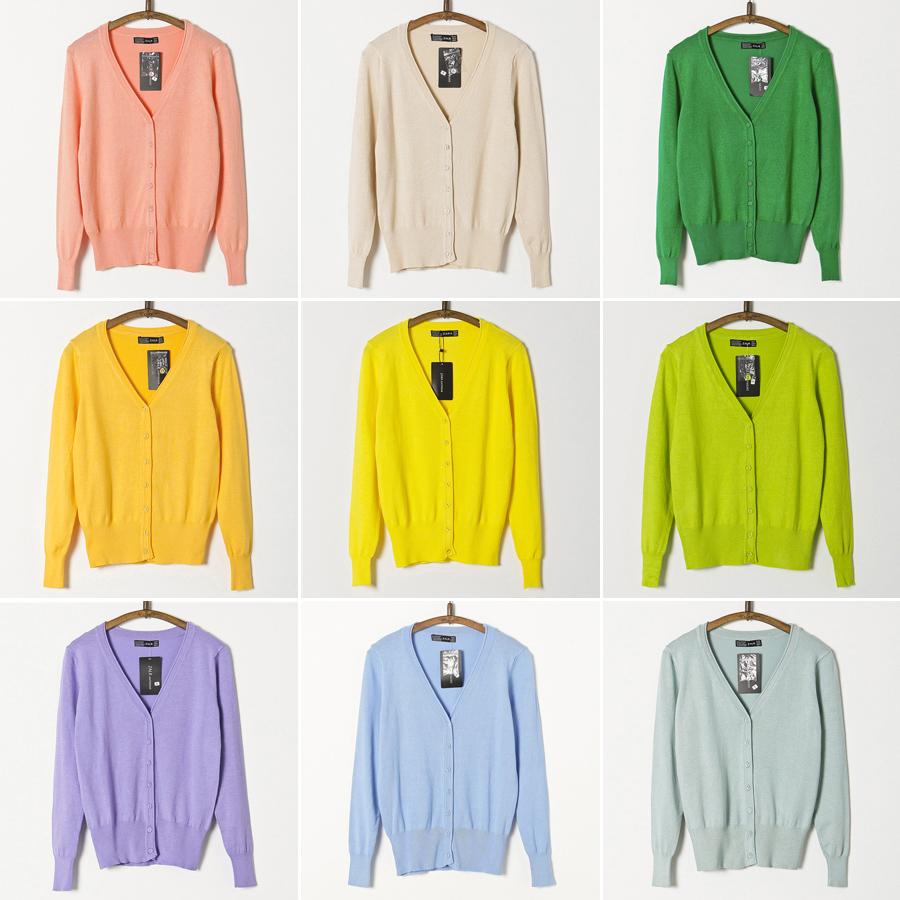 Осенние нового тонкого свитера женщин свитер джемпер v шею длинным рукавом плюс размер обрезать свитер пальто Весна за пределами Кондиционер рубашка
