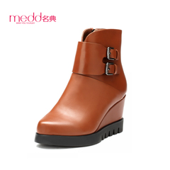 Name code 2015 winter new wedges platform boots women fashion short boots with belt buckle fashion women boots