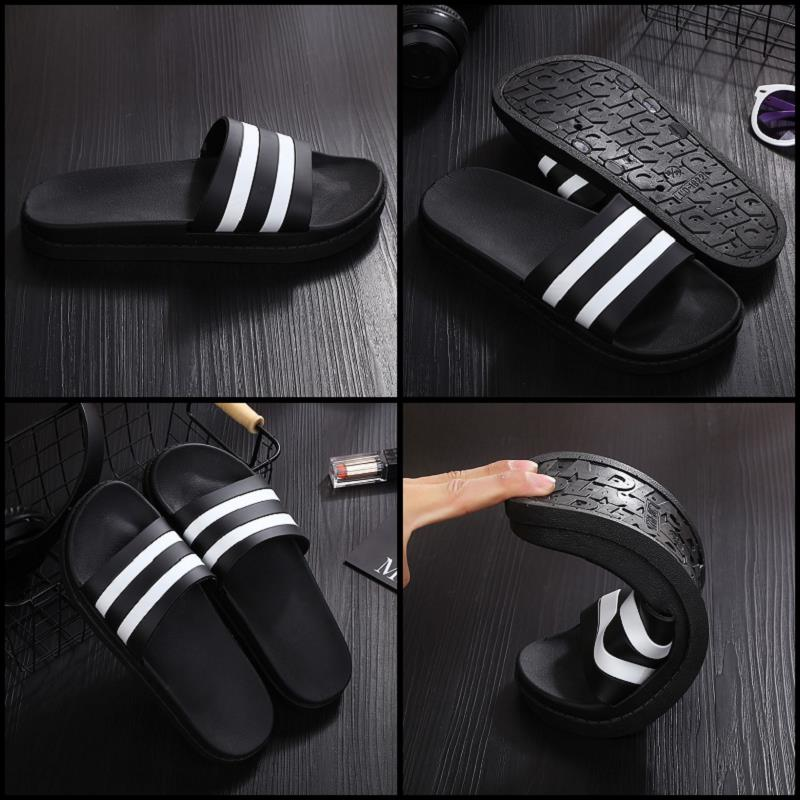 Male summer slippers female summer Ms. cute striped bathroom shower slippers indoor couple Habitat home sandals and slippers