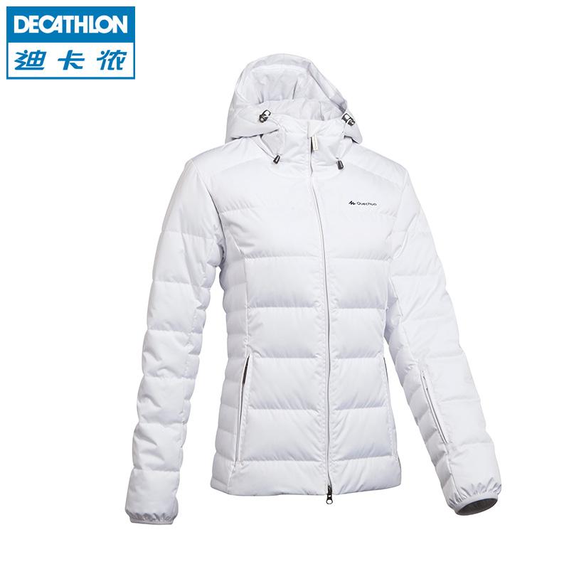 Decathlon открытый лыжи теплый вниз куртка блузку цвета соответствия проложенные лыжные износа КЕЧУА