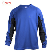 Caxa quick-drying long-sleeved quick-drying round collar drifting outdoor sports straight male money running plain quick-drying t-shirts, 1058