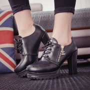 Fall 2015 new platform high heel booties women's boots with chunky heels boots and bare boots women's shoes