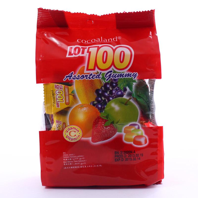 ~天貓超市~馬來西亞 一百份什果果汁軟糖320g 袋越嚼越有勁
