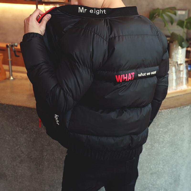 Мужской 2017 новый зима случайный хлопок подбитый корейский зима ватник студент тенденция пальто мужской одежда