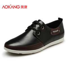 Aucom popular daily casual shoes men's shoes men's breathable shoe leather low shoes shoes of England City boy