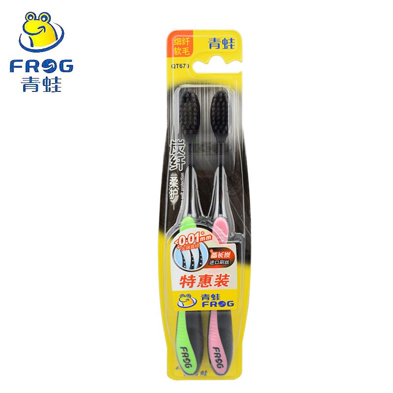 青蛙炭纤柔护备长炭进口2支装牙刷评价如何