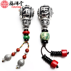 DIY Accessories Accessories diamond Moon and stars Bodhi stupa 108 beads Tibetan silver turquoise tee head back