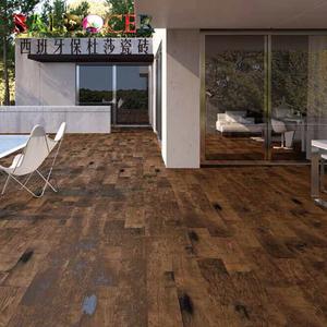 仿木纹砖 地砖 进口 陶瓷玻化 客厅阳台 瓷砖 西班牙保杜莎胡桃木