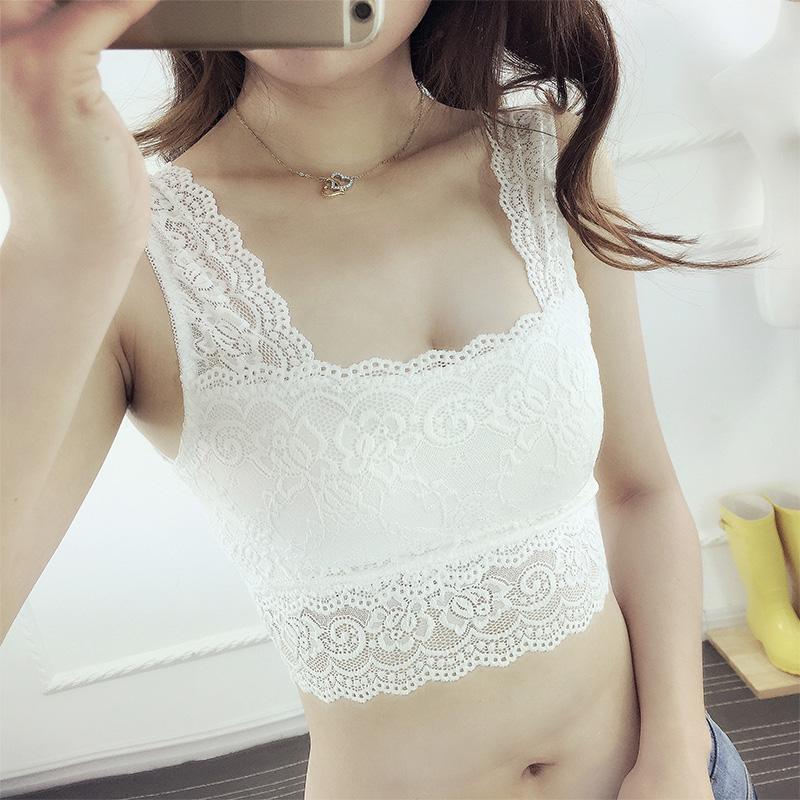 甜美蕾絲白色打底安全褲