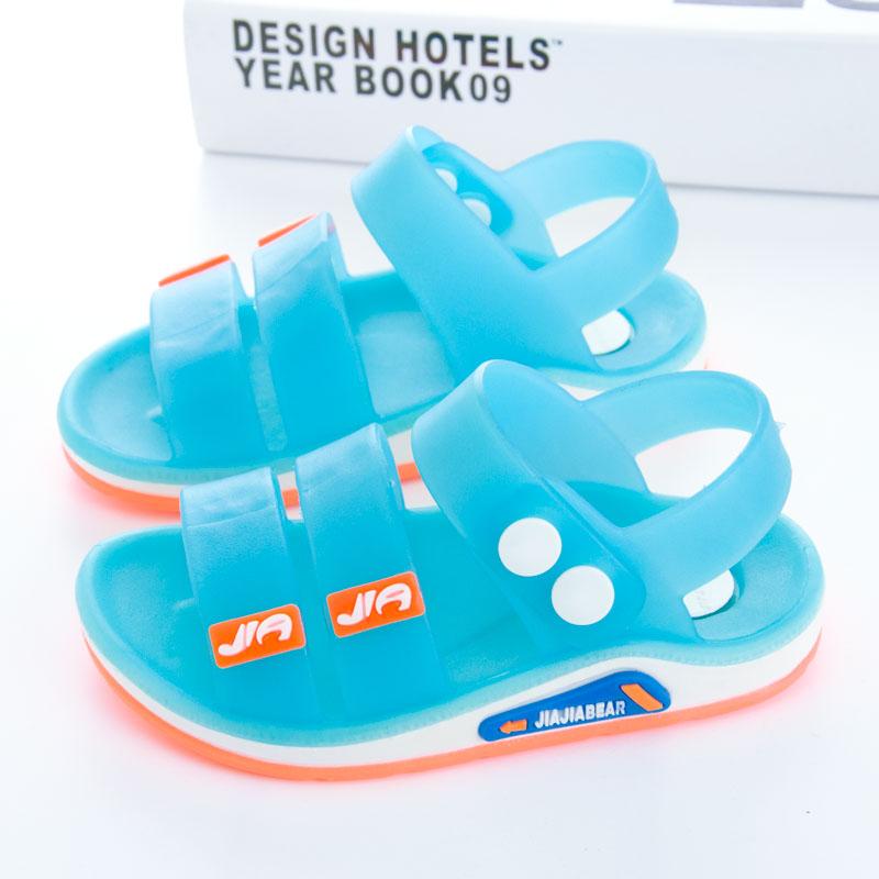 儿童凉鞋夏季2019新款运动果冻塑料婴儿宝宝防滑男童女童沙滩鞋潮
