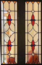 European and American color glass inlaid glass wooden door glass door core art glass cabinets wine door glass