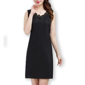 夏季中长款蕾丝小衫无袖宽松背心裙