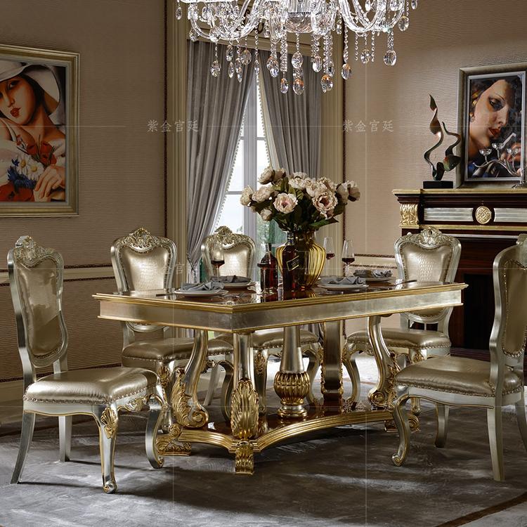 Мода континентальный исключительно вручную резьба после современный высококачественный специальное предложение новый классическая обеденный стол охрана окружающей среды дерево натураньная кожа в наличии