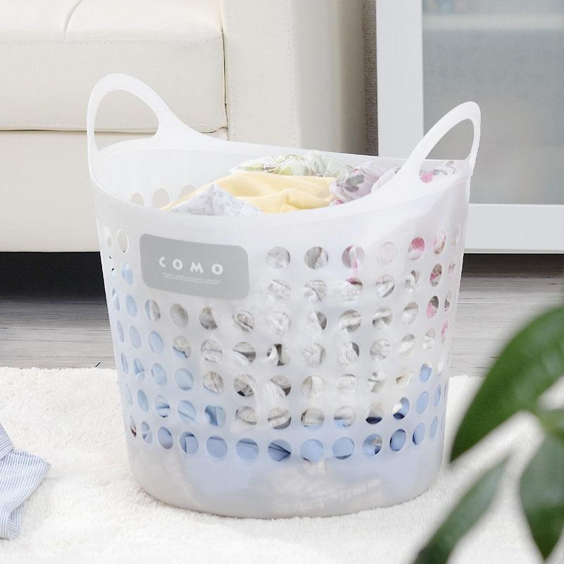 日本进口洗衣篮收衣篮收衣桶放衣服的收纳筐塑料脏衣篮脏衣篓大号