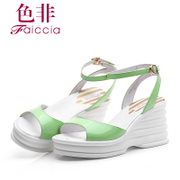 Non 2015 summer styles Shoppe buckle wedges women of genuine open-toe Sandals WIBA12604BP