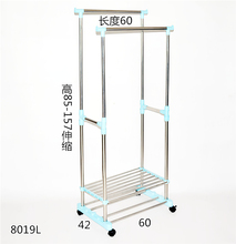 Outdoor Hotel, stainless steel balcony, double pole bedroom, clothes hanger, retractable lifting hanger, indoor folding drying rack