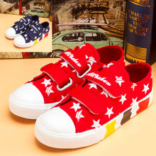 The spring and autumn period and the summer children low canvas shoes for fastening size 38 male children's shoes big girls' shoes sneakers antiskid air 2015