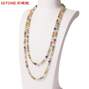 Stone boho fashion Joker long necklace sweater chain long decorative chain necklace