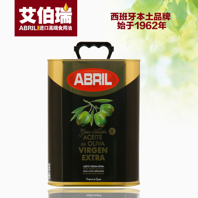 【19.12生产】西班牙进口ABRIL艾伯瑞特级初榨橄榄油3L 食用油