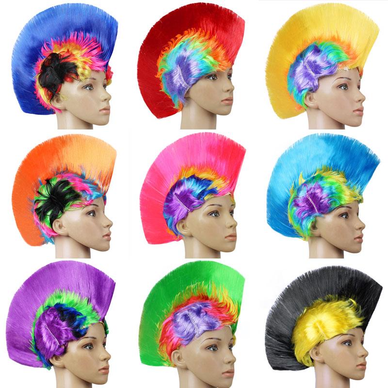 Яркий хэллоуин парик панк моделирование курица корона парик головной убор партия статьи свадьба бар сделать смех реквизит