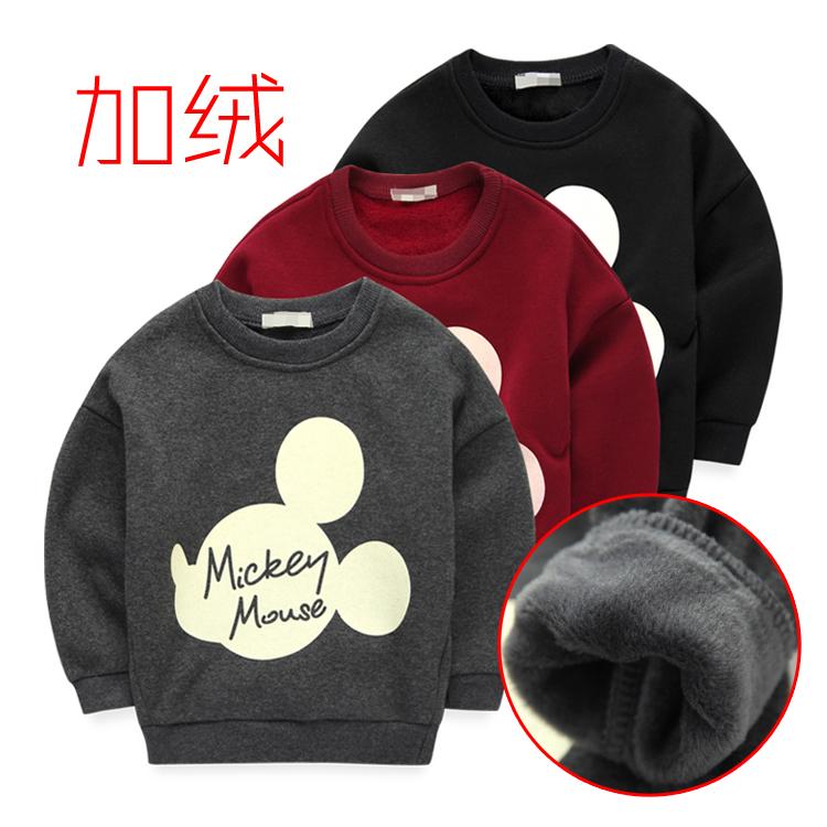 письма плюс Микки голову осень/зимой кашемировый свитер для мальчиков и девочек к 2015 году новых детей мягкие пальто базы