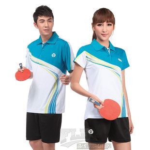 Encore carnival clothes tennis clothes suit Y341 badminton sportswear couple short sleeved shirts for men and women training