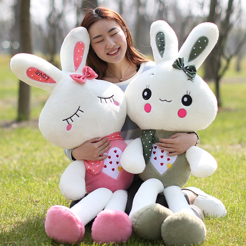 White Rabbit plush toy doll cute doll pillow queen size doll birthday gift for children