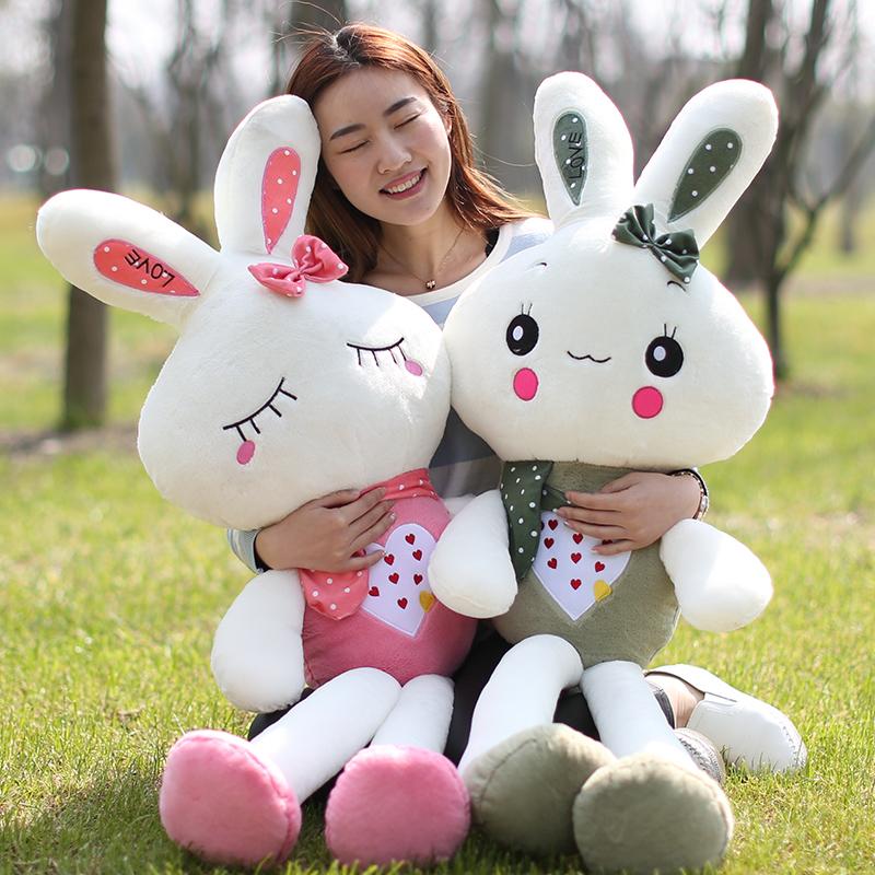Милый маленький белый кролик sub волос бархат игрушка кукла куклы подушка большой размер ткань кукла ребенок день рождения подарок