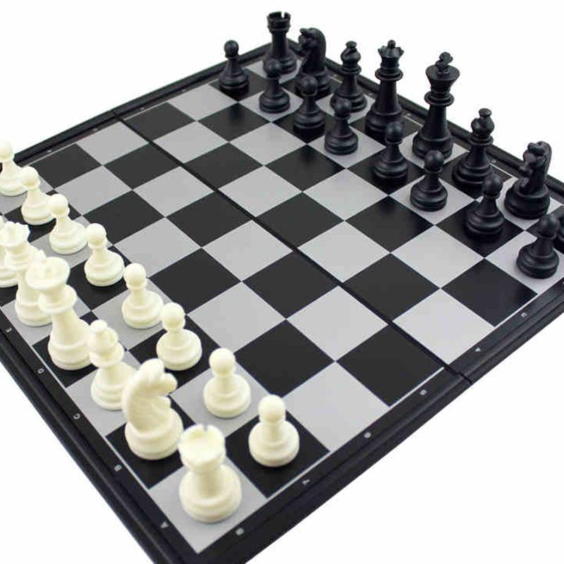 Стол летать сложить магнит шахматы портативный ребенок игрушка большой размер шахматная доска трехмерный кусок головоломка игрушка .7
