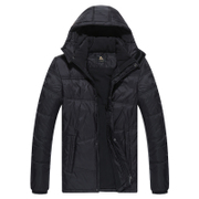 Kang stepped 2015 new men's cotton-padded clothes to keep warm in winter coat padded wind and running sportswear old casual