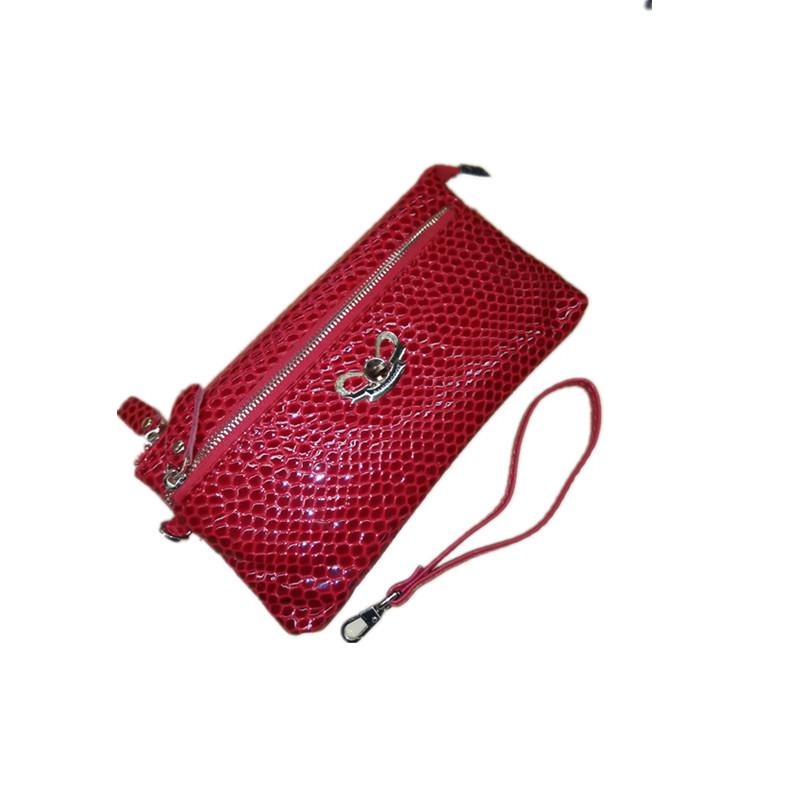 时尚风格袋鼠2015新款牛皮卡包长款女钱包女手抓包FBC1786