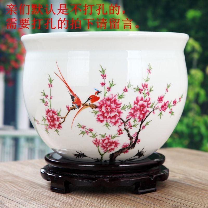 碗蓮盆瓷都景德鎮陶瓷花盆種菜盆碗蓮盆魚缸烏龜缸二級品