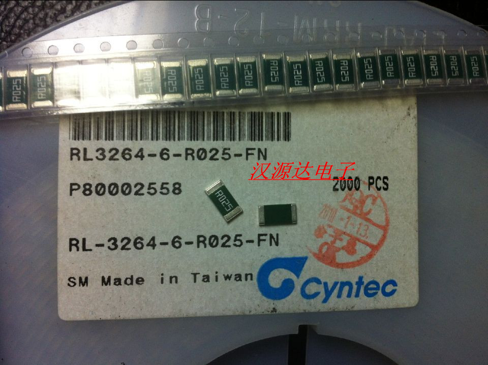 �N片合金�阻2512 R025 0.025R 1% 1W RL-3264-6-R025-FN�G色乾坤