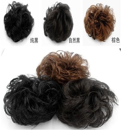 Парик резинка для волос бутон глава невеста блюдо волосы ластик мышца резинка для волос пилюля глава пушистый объем эластичность резинка для волос бутон