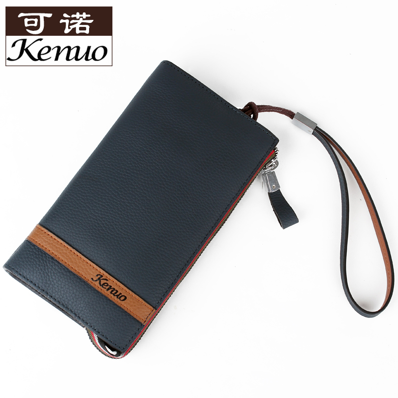 Portable wallet mens long genuine leather leather first layer cowhide WALLET business ticket folder multi Card Wallet pure leather