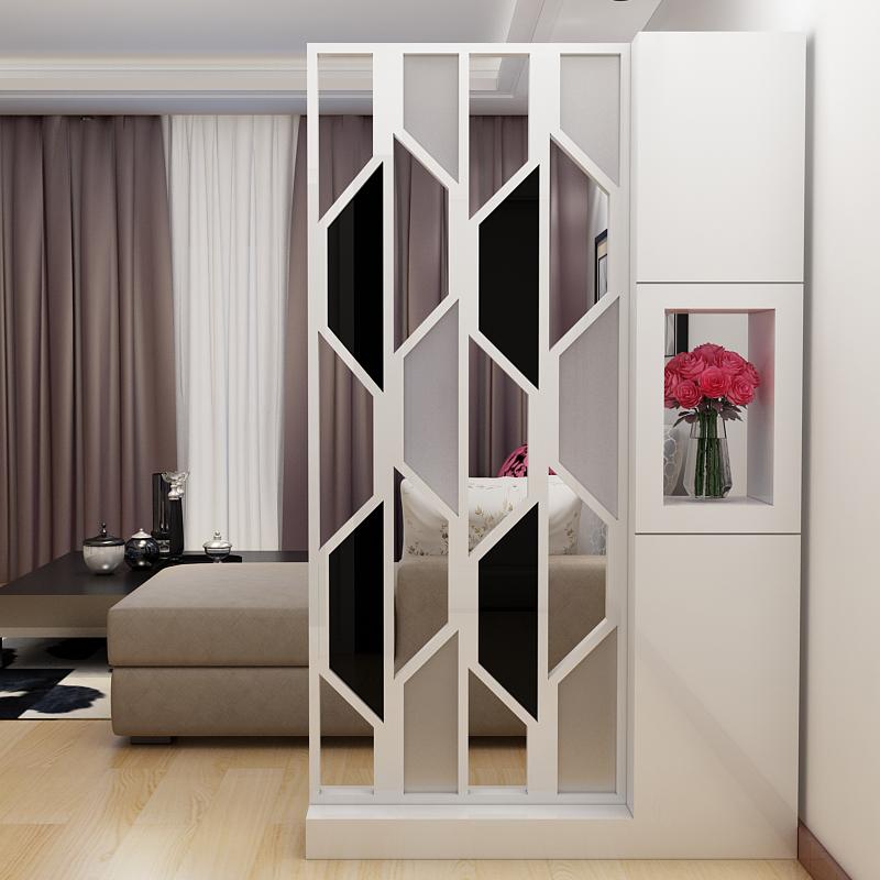簡約客廳 屏風隔斷櫃歐式鏤空玻璃座屏玄關櫃間廳櫃門廳櫃