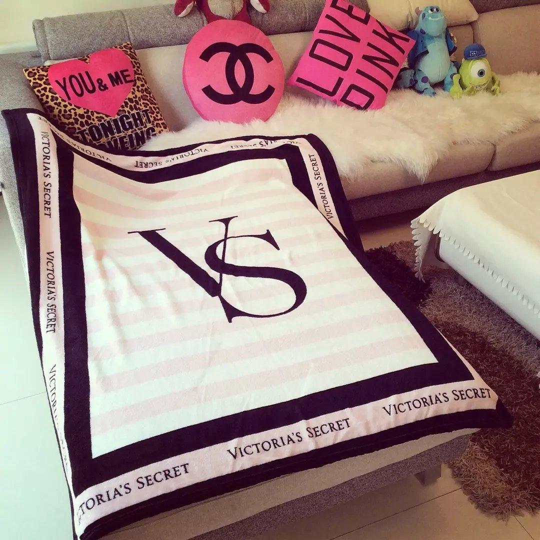 Внешней торговли оригинальный Сюй ЧАО дан бренд Виктории Секрет VS Кондиционер одеяло коралловых ватки самолет одеяло розовый одеяло