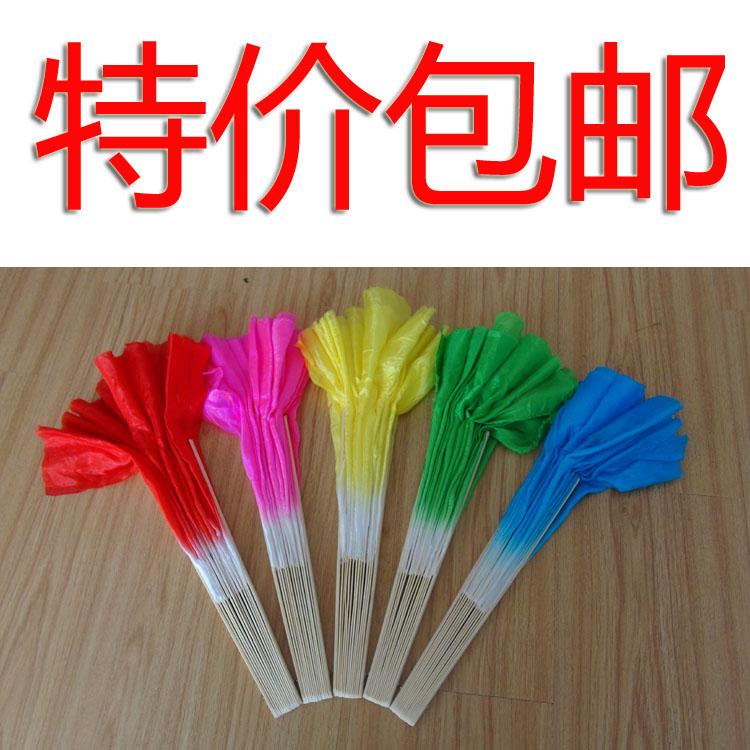 广场舞扇子秧歌扇子跳舞扇子舞蹈扇扇子双面打磨竹子红色粉黄绿蓝