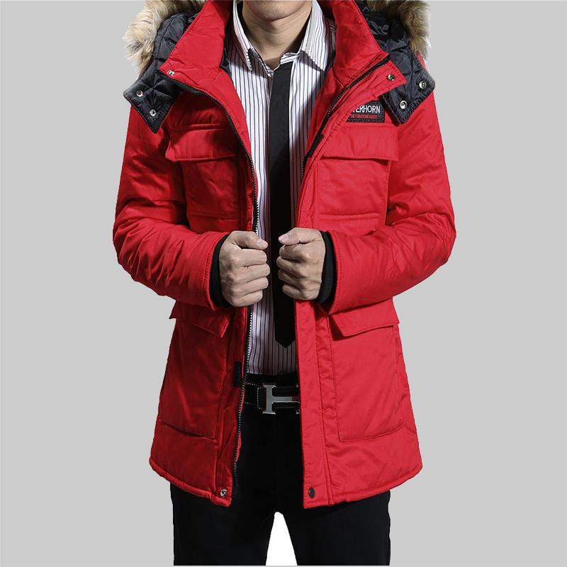 Специальные акции зима 2016 долго стеганые куртки пары толстые Пальто Пальто мужчин Chao Корейский хлопка Одежда мужчин