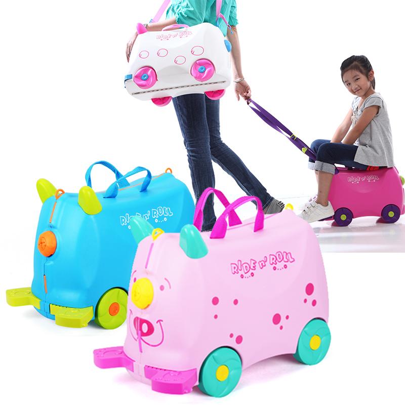 高盛貝拉奇兒童行李箱可坐能騎寶寶卡通旅行箱拖拉男女孩玩具箱包