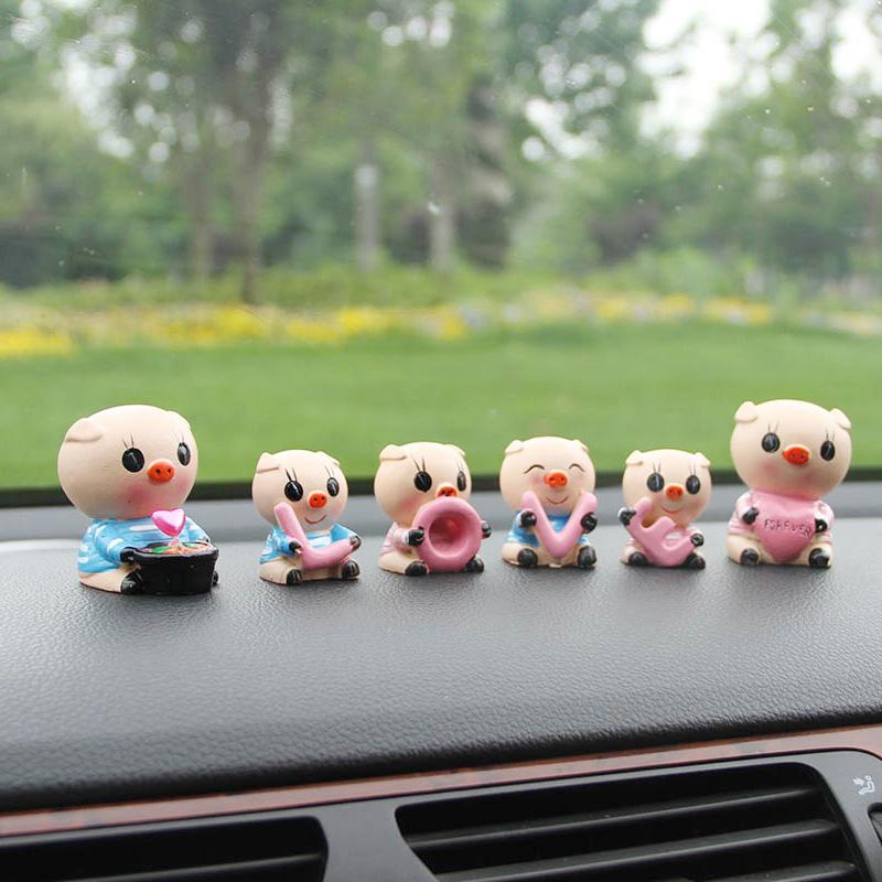 LOVE猪创意汽车摆件可爱公仔汽车内饰品卡通摆件车载装饰用品摆件10-19新券