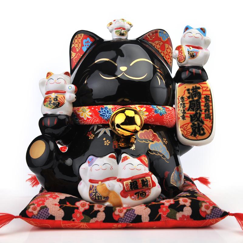 Камень работа место черный счастливая кошка украшение открытый специальный большой размер керамика качели установить статья домой мода