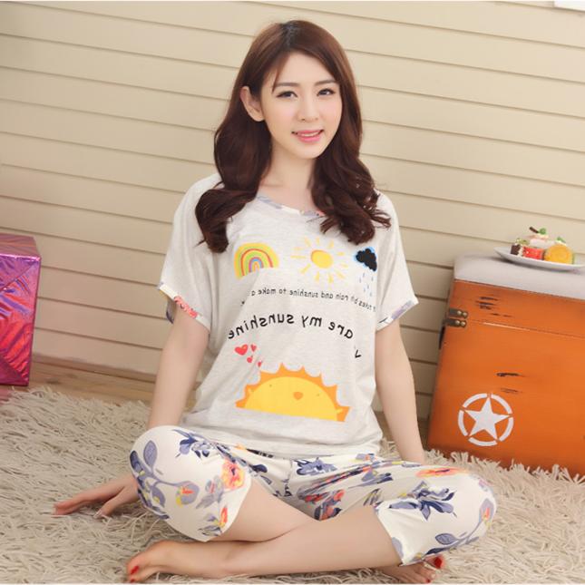 2015 летом пижамы девушка летом короткие тонкие модели корейских милый модель девушка пижамы летняя одежда костюм женский