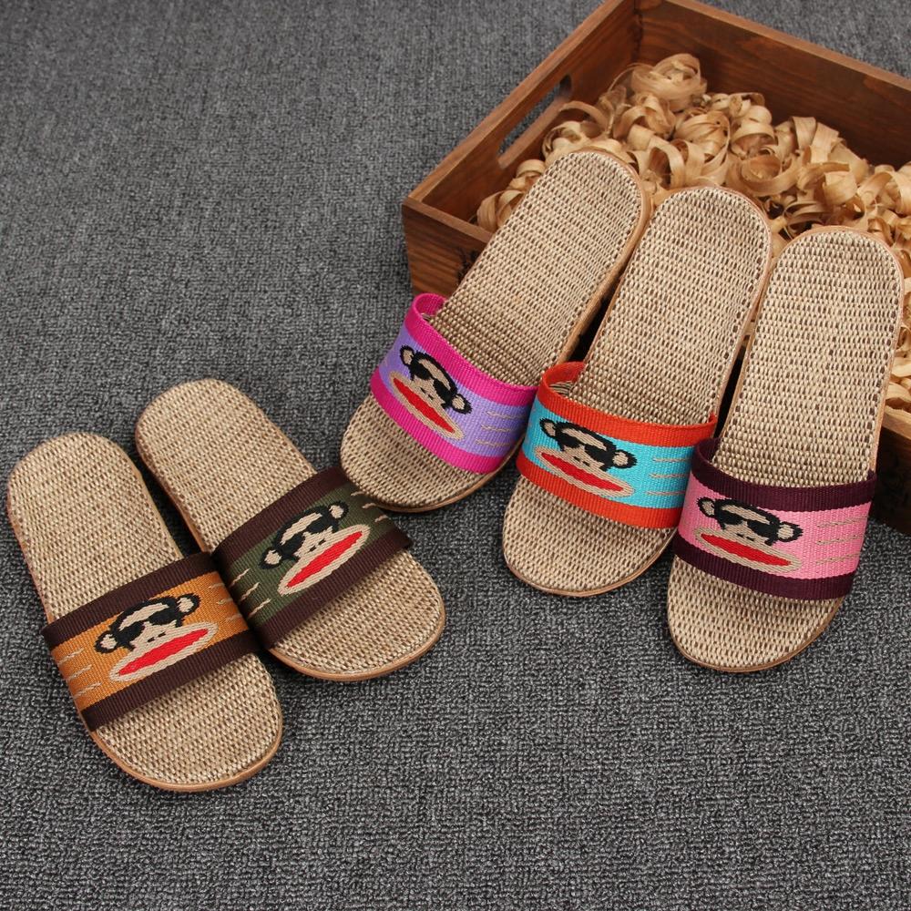 【天天特价】亚麻拖鞋夏季居家男女情侣儿童拖鞋凉拖室内地板防滑