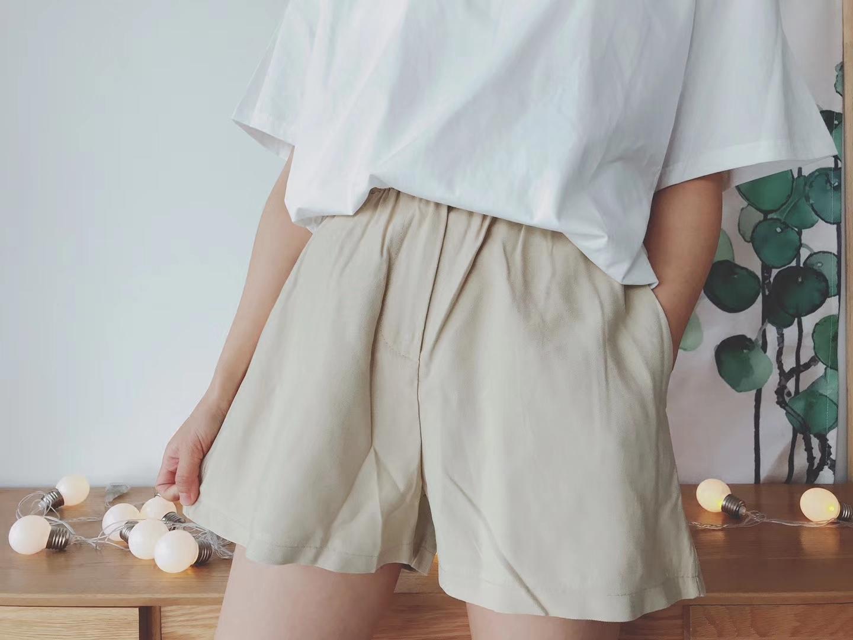 MENENY2018春夏新品休闲裤女裤文艺范宽松高腰裤氨铜丝舒适裙裤潮